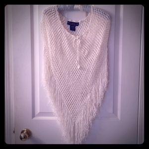 YAHOO American Jeans Crochet Poncho